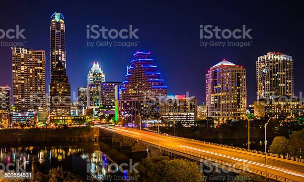 Austin texas evening excitement cityscape skyline skyscrapers avenue picture id502584531?b=1&k=6&m=502584531&s=612x612&h=gz oicbvlyp 8hppels8yhjuhswd9e0645hqjudq1ae=
