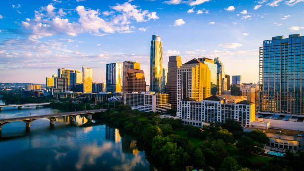 Austin texas home of Live Music Festivals and SXSW stock photo