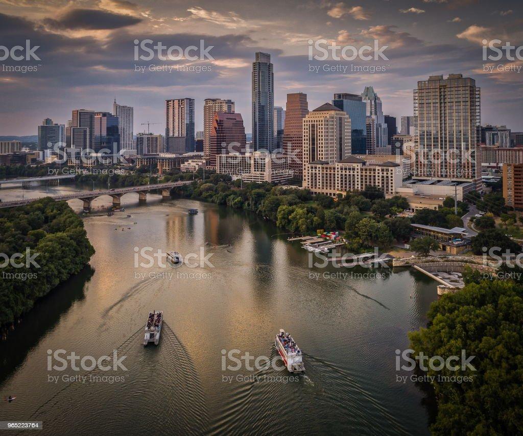 Austin, Texas - Lady Bird Lake Riverboats zbiór zdjęć royalty-free