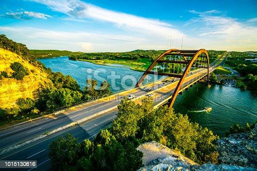 501329818istockphoto Austin , Texas Landmark at Pennybacker Bridge Overlook 1015130816