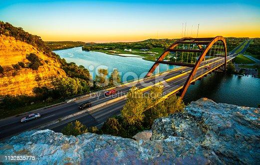 501329818istockphoto Austin Texas landmark the Pennybacker Bridge at sunset 1132835775
