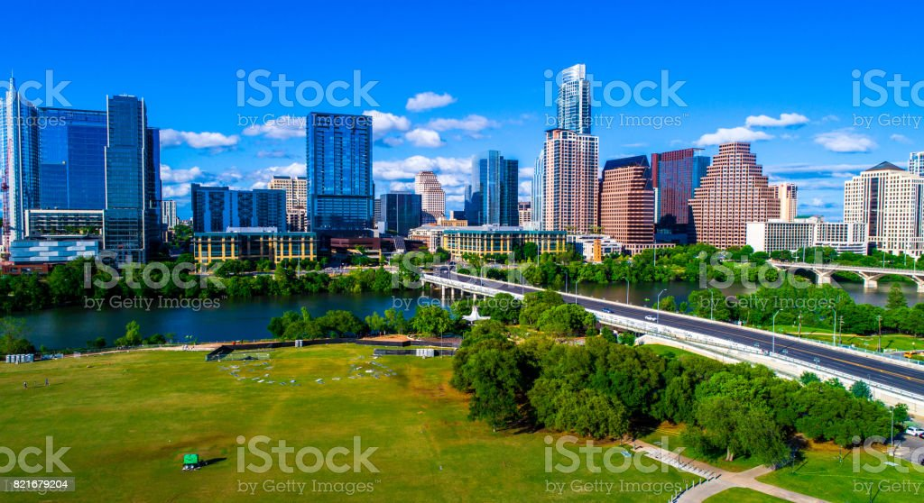 Austin Texas on a nice Sunny Day stock photo