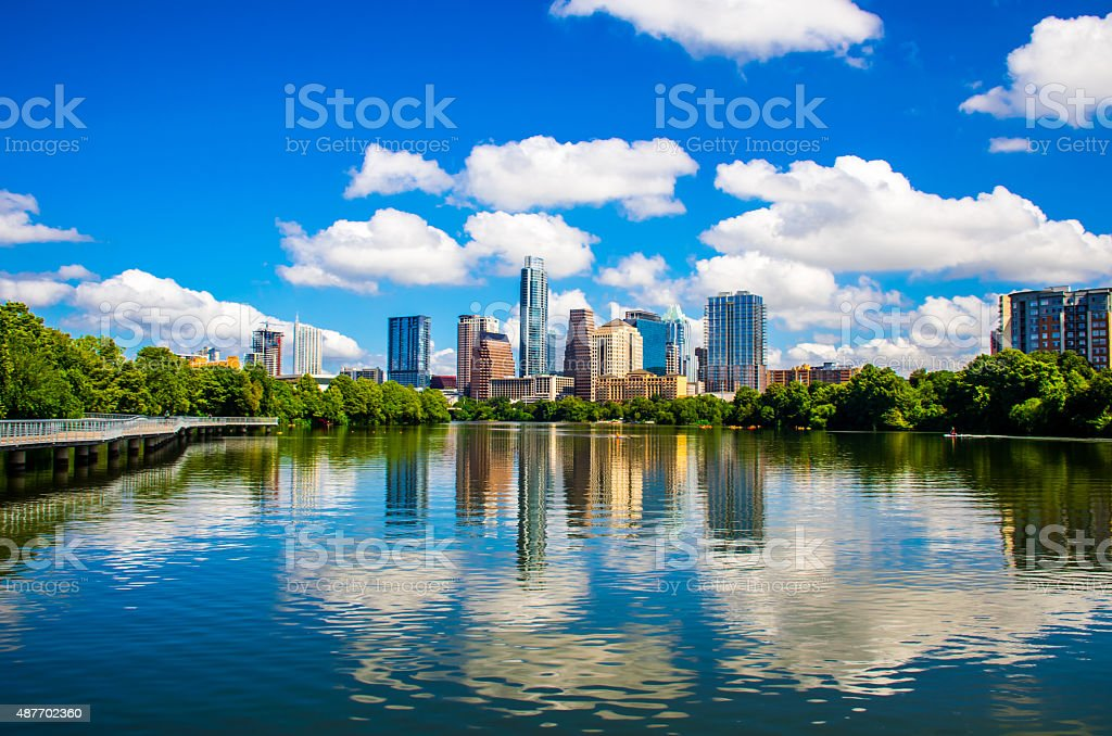 Austin, Texas September 2015 Capital Cities Reflections stock photo