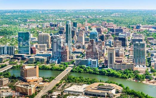 istock Austin Texas skyline cityscape aerial view 450552161