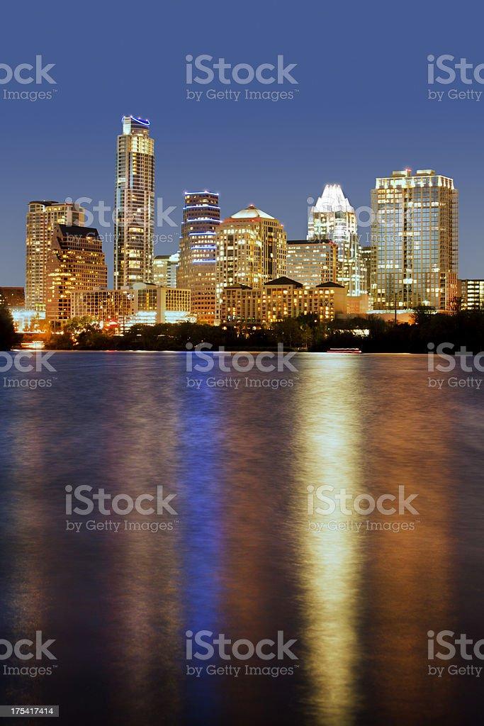 Austin, Texas Skyline, Lady Bird Lake royalty-free stock photo