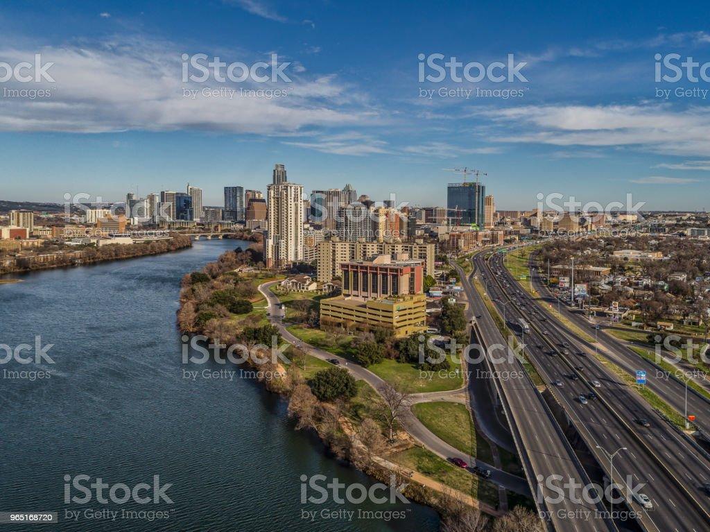 Austin, Texas Skyline over I-35 royalty-free stock photo