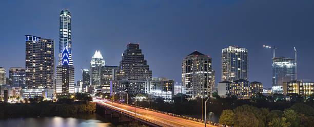 Austin Texas skyline panorama stock photo
