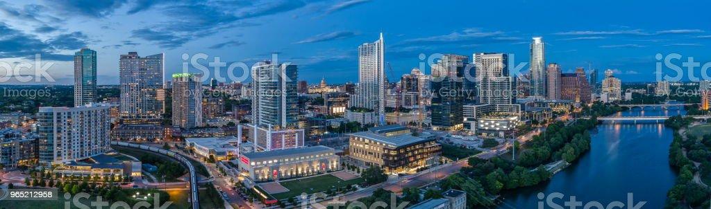 Austin, Texas Skyline Panoramic zbiór zdjęć royalty-free
