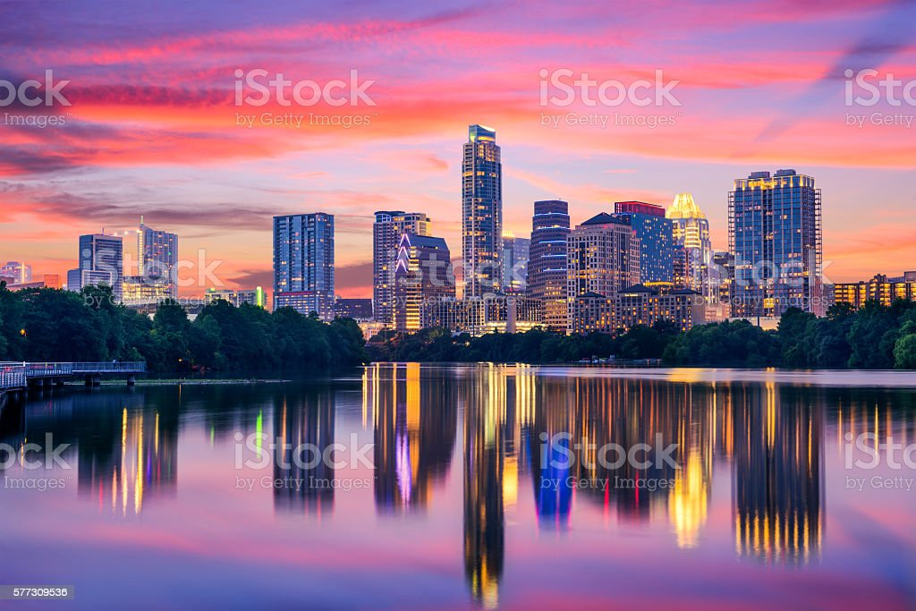 Austin, Texas Skyline royalty-free stock photo
