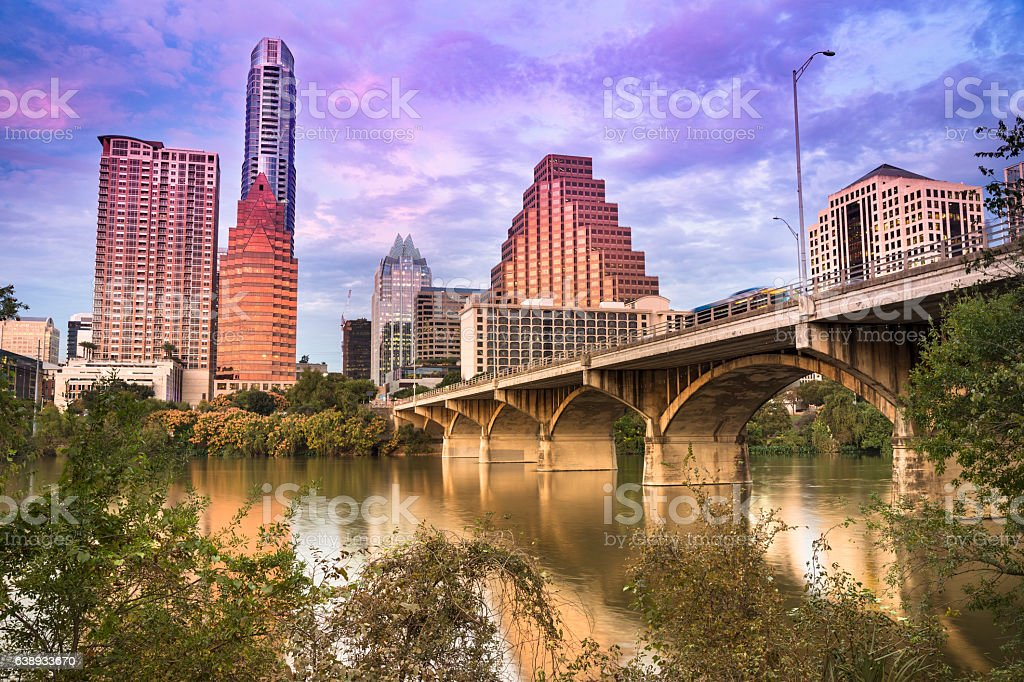 Austin Texas skyline stock photo