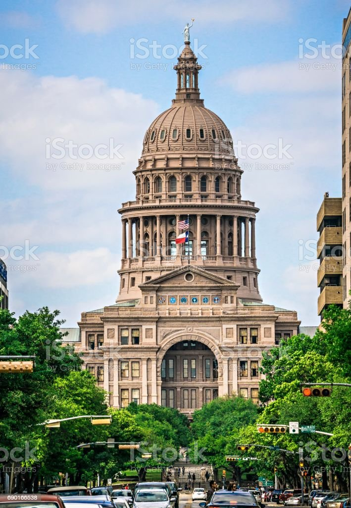 austin texas state capitol building stock photo