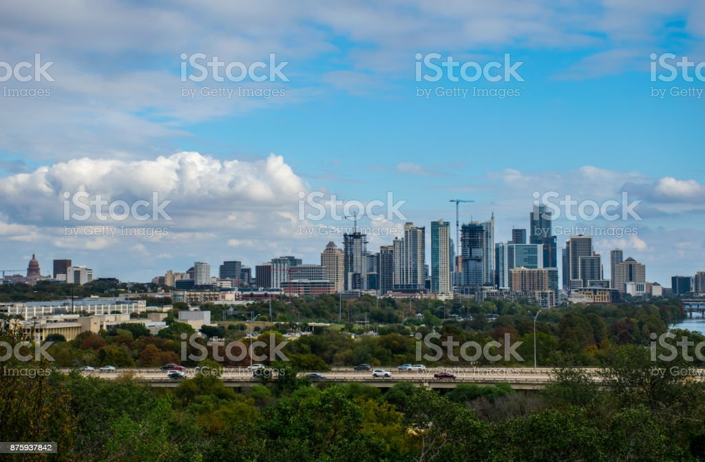 Austin Texas Sunny Afternoon With Entire Cityscape And