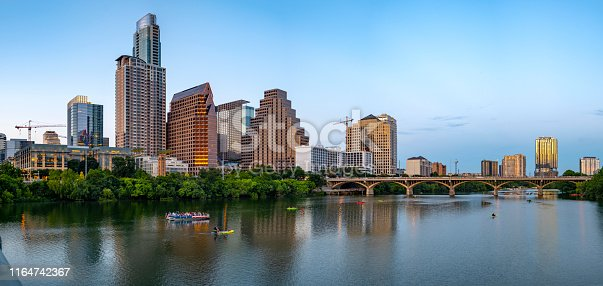 Austin skyline in the evening hour