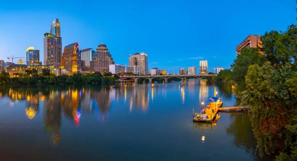 Austin Texas USA Abend Skyline – Foto