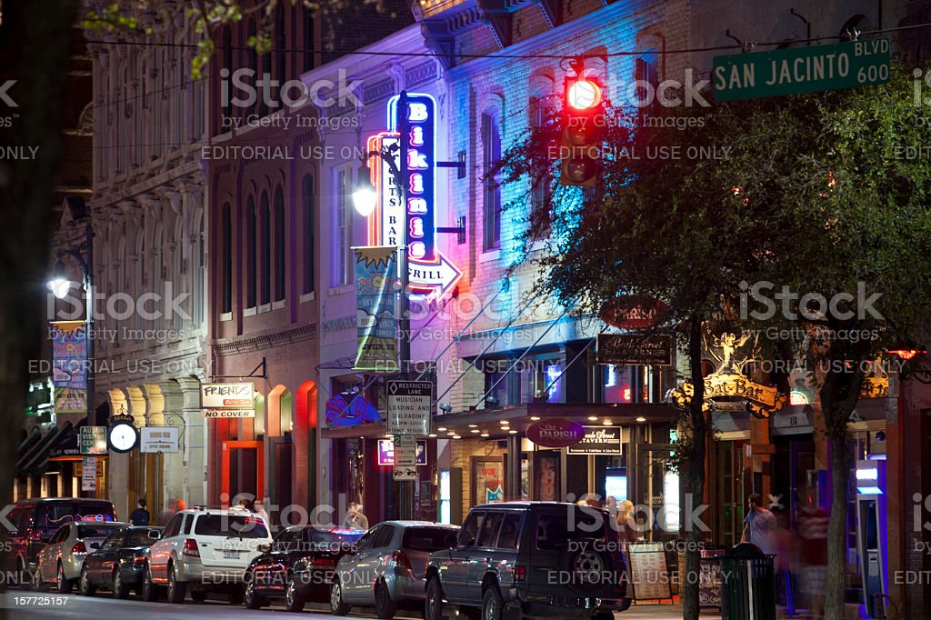 Austin's 6th Street stock photo