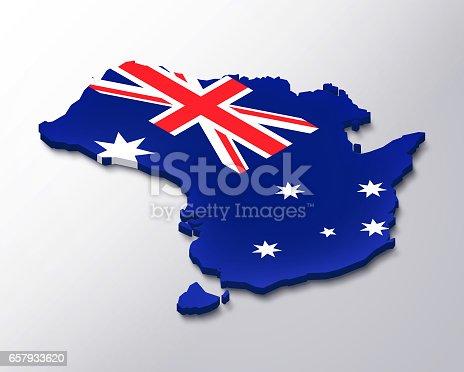 istock Australia 3D map white background 657933620