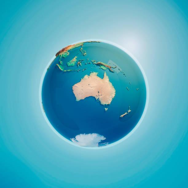 Australia Render 3D planeta tierra - foto de stock