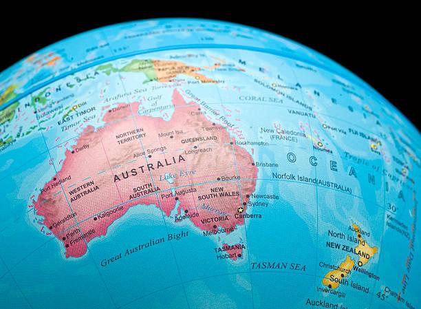 Australia y Nueva Zelanda - foto de stock
