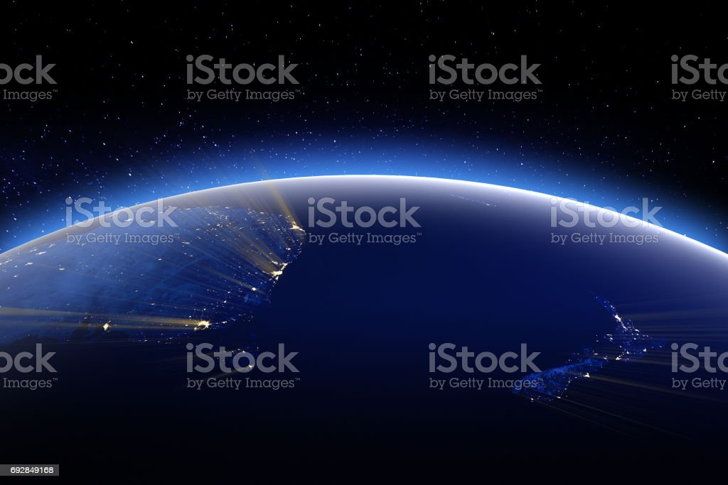 Australia and New Zeland. Elements of this image furnished by NA stock photo