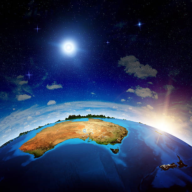 Australia and New Zeland stock photo