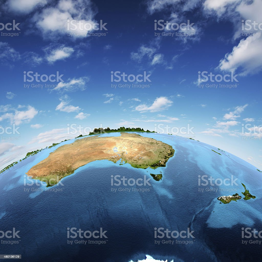 Australia and New Zeland stock photo