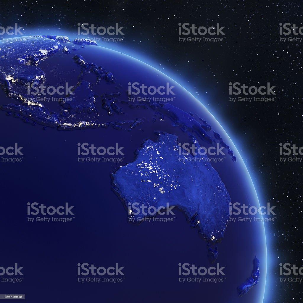 Australia and South-East Asia stock photo