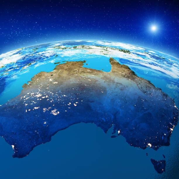 Australien-Stadt-Lichter in der Nacht – Foto