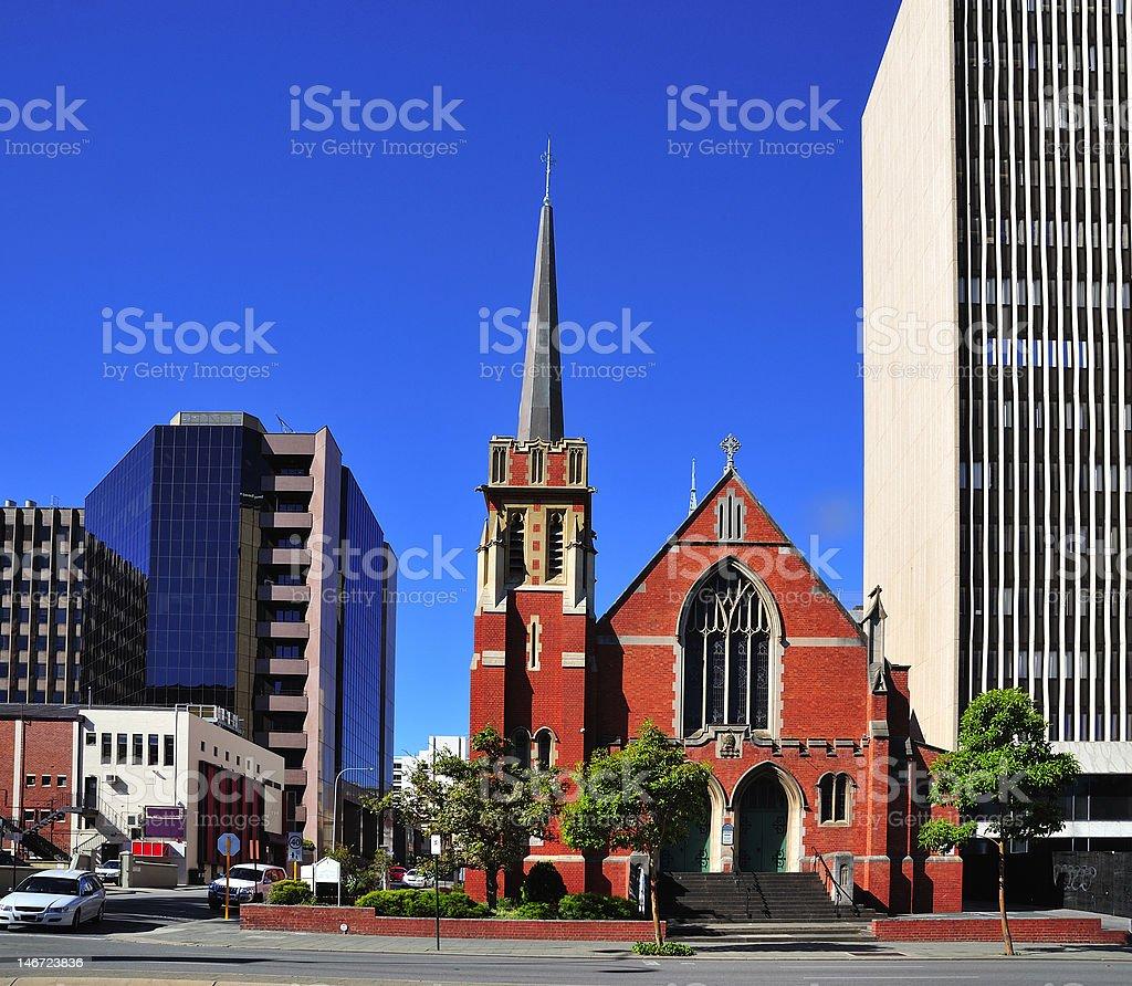 Australia City of Perth St. Andrew church stock photo