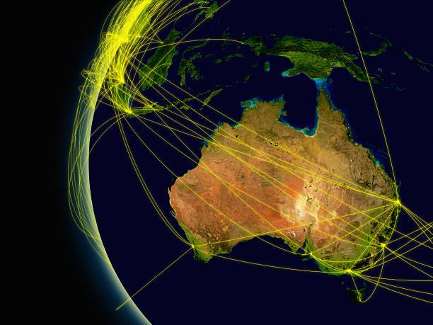 Conexiones de Australia - foto de stock
