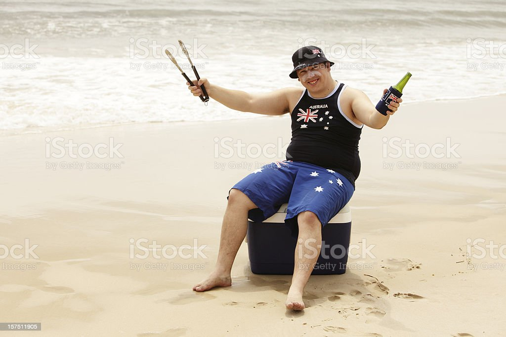 Australia Day Beach Celebrations stock photo