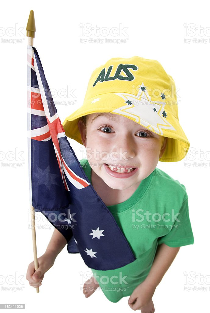 Australia Day Boy stock photo