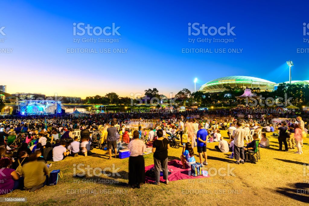 Australia Day celebration in Adelaide stock photo