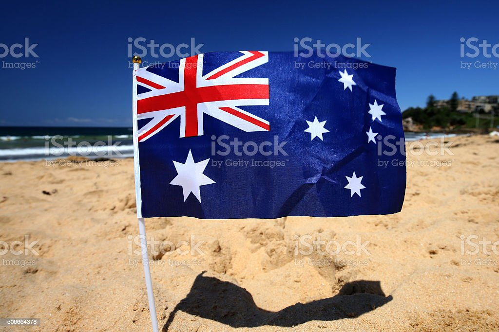 Australia Day Celebrations in Avoca Beach, NSW Central Coast stock photo