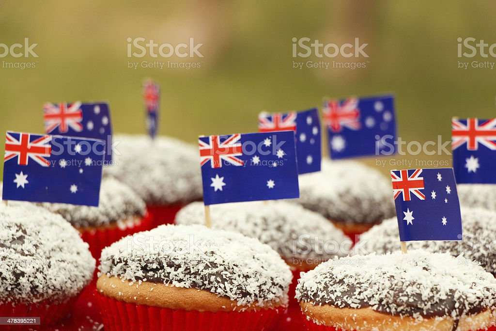 Australia Day Cupcakes stock photo