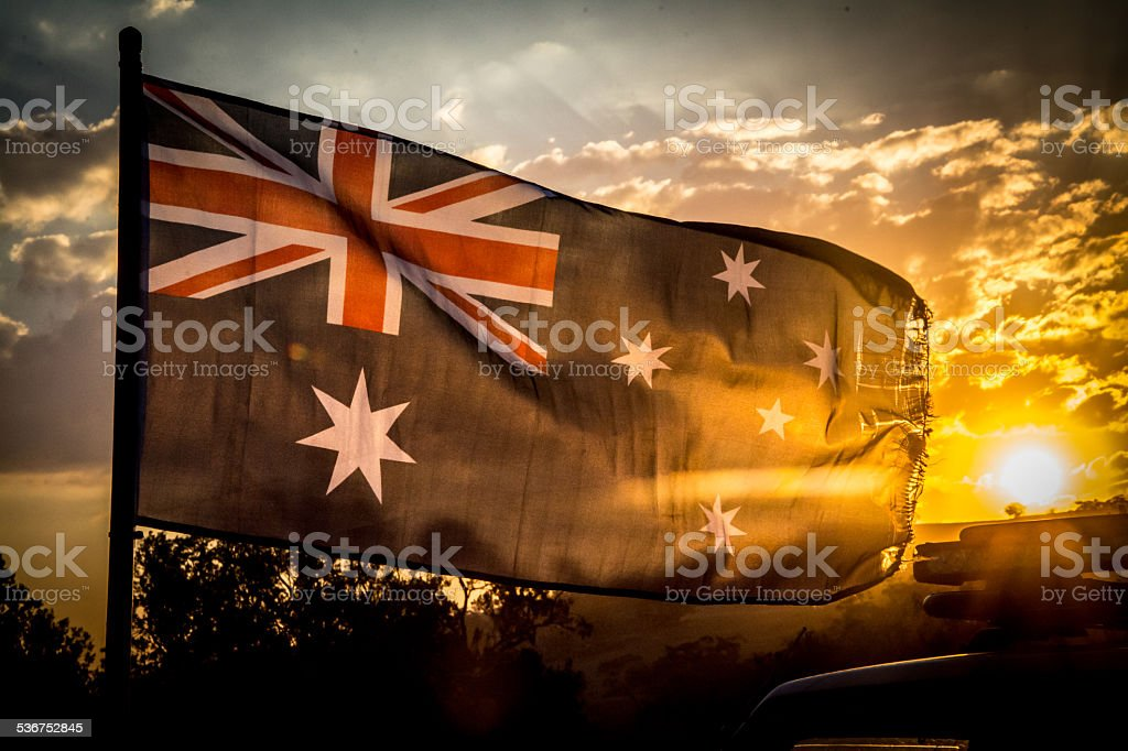 Australia Day Flag stock photo