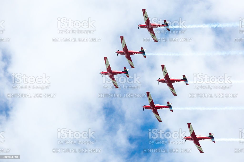 Australia Day Red Arrows Display stock photo