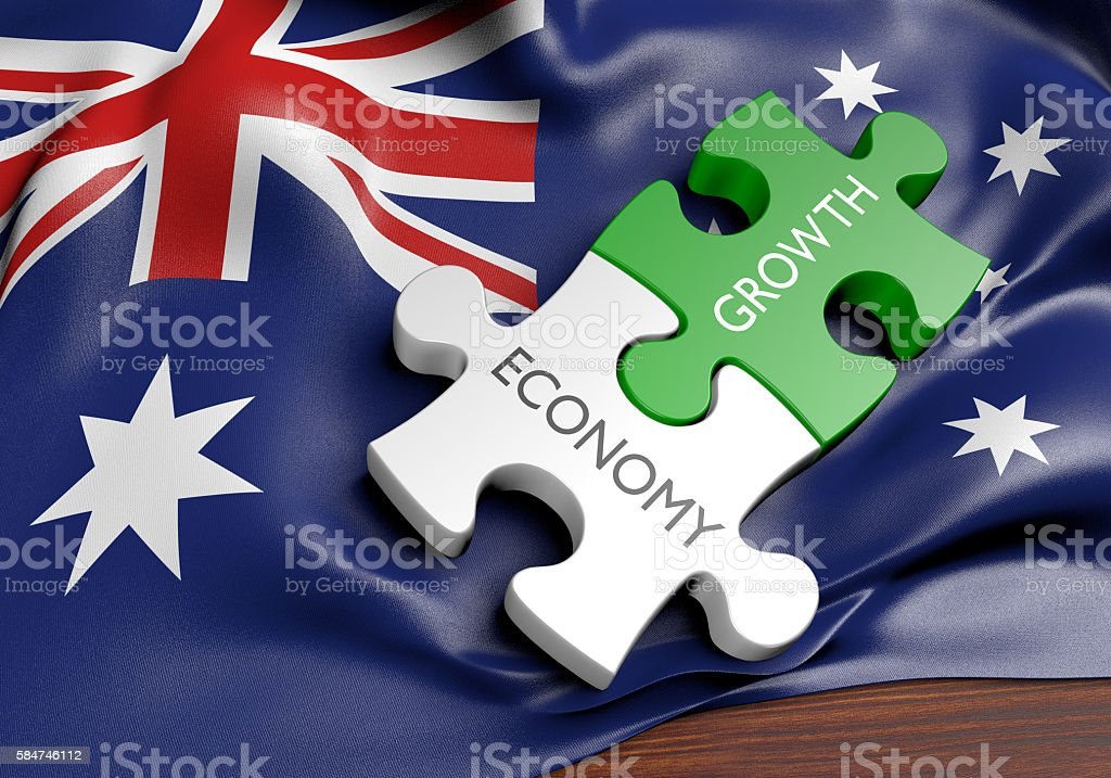 Australia economy and financial market growth concept, 3D rendering stock photo