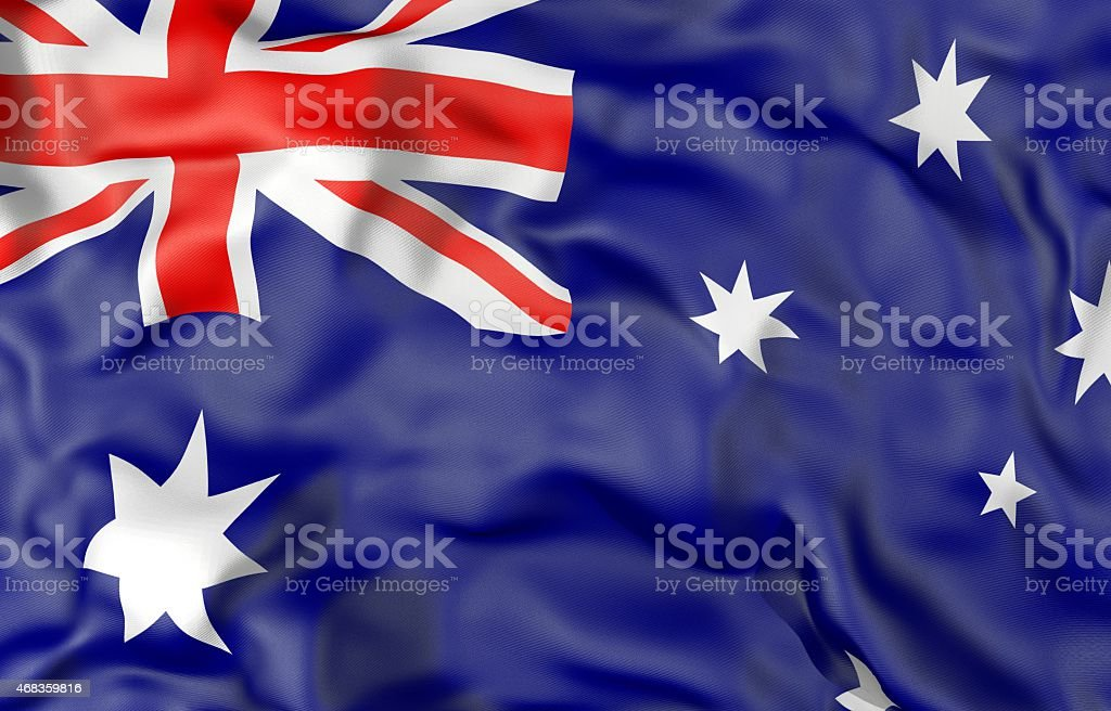 Australia flag 3d illustration royalty-free stock photo