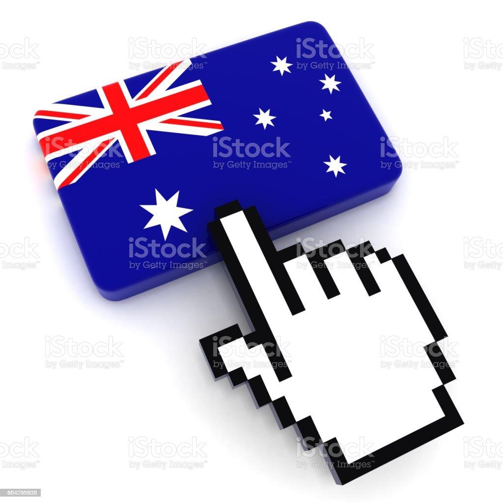 Australia flag button royalty-free stock photo