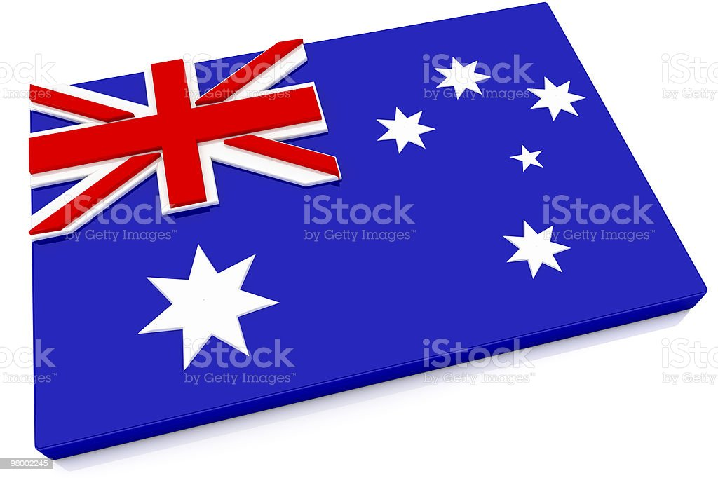 3D Australia Flag Button royalty-free stock photo
