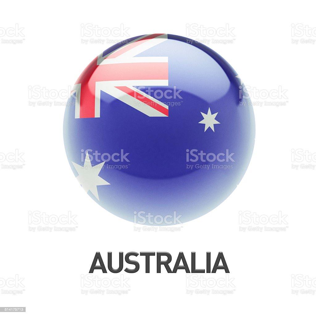 Australia Flag Icon stock photo