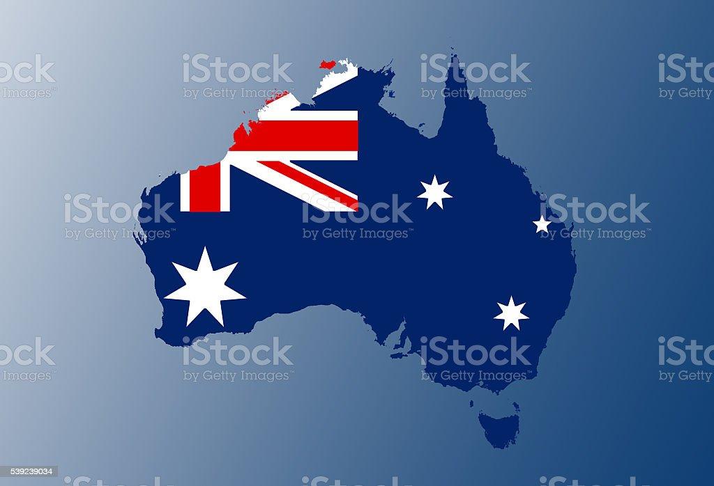 Bandera de Mapa de Australia foto de stock libre de derechos