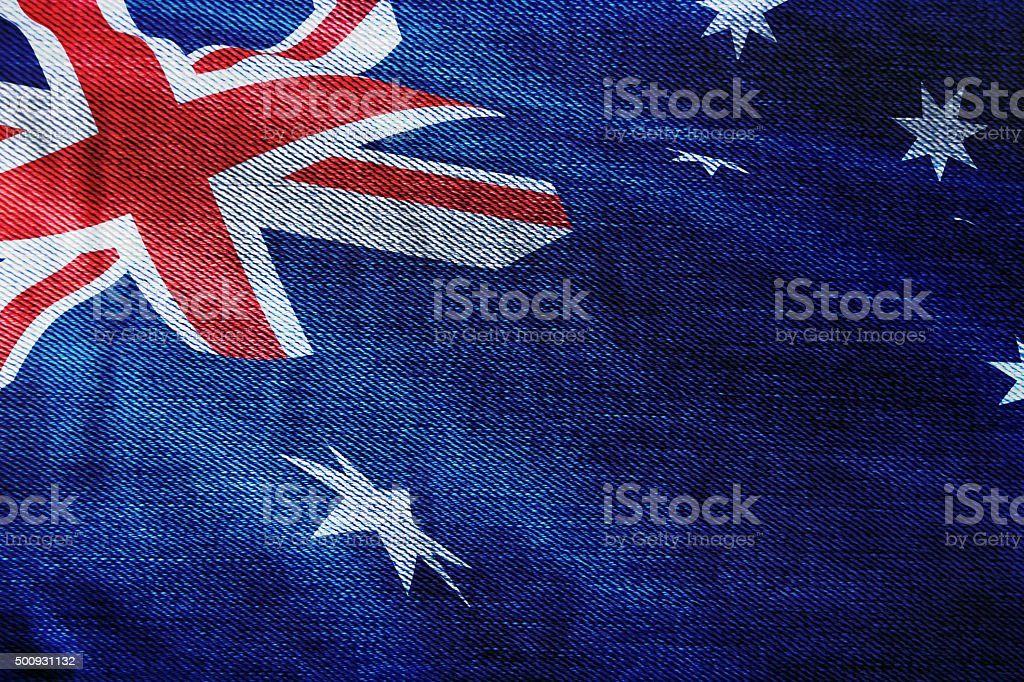 Australia Flag on textile stock photo