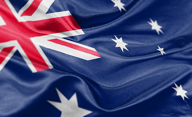 Australia Flag stock photo