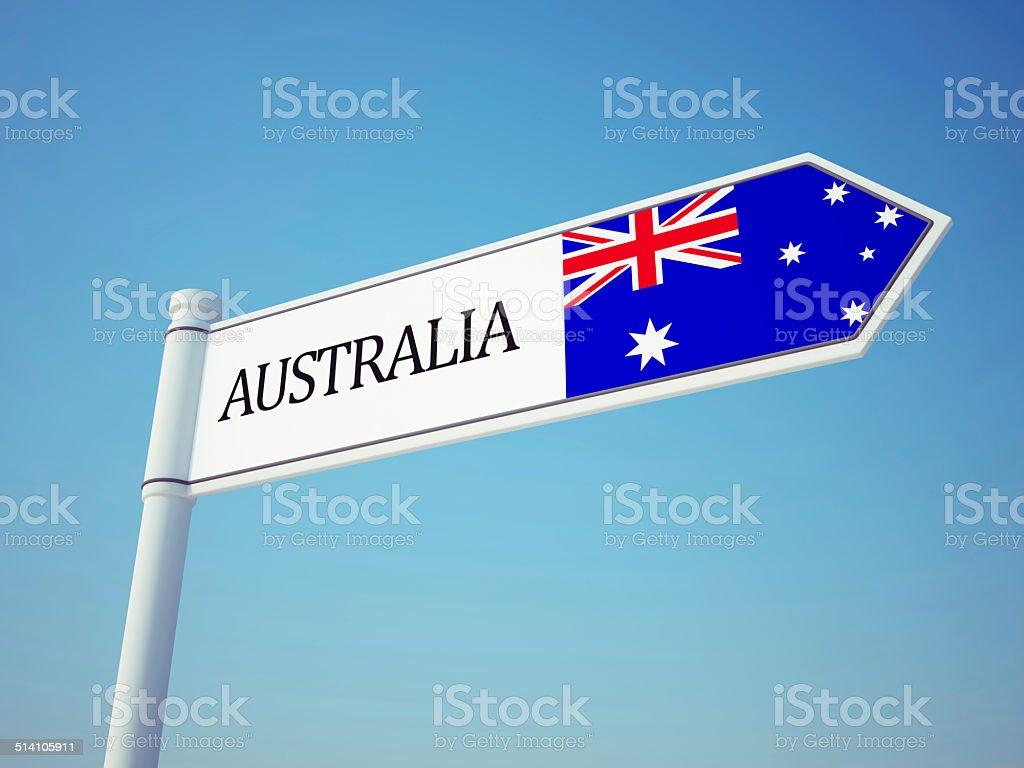 Australia Flag Sign stock photo