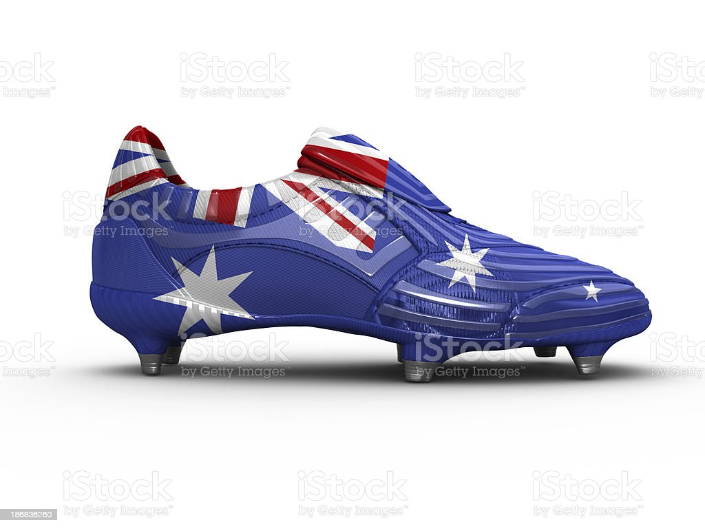 Australia Football Boot royalty-free stock photo