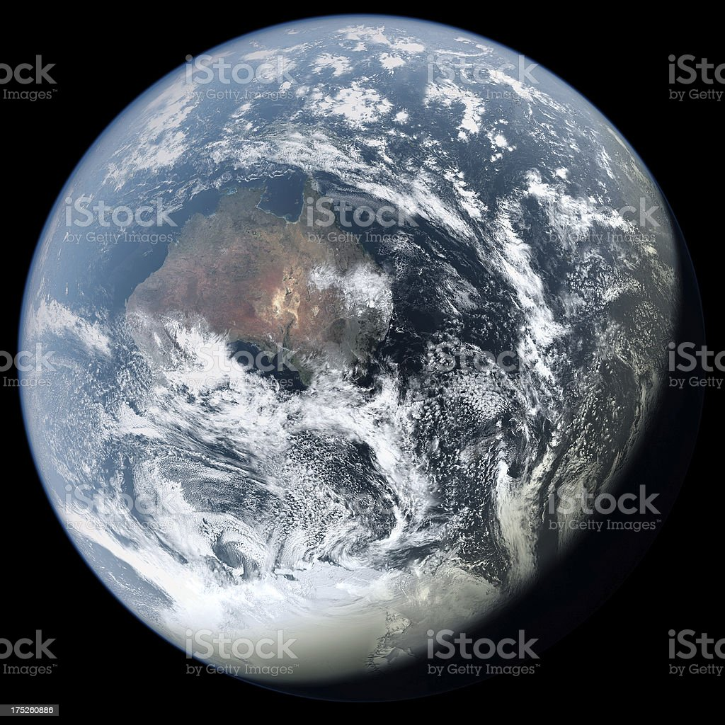 Australia From Space royalty-free stock photo