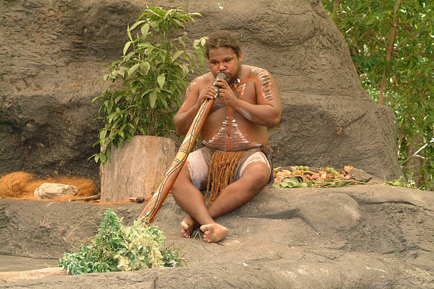 australia, kuranda - didgeridoo stock photos and pictures