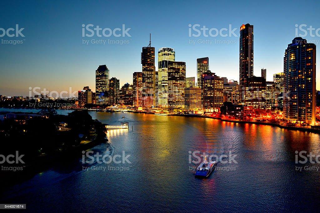 Australia Landscape : Brisbane city riverside skyline stock photo