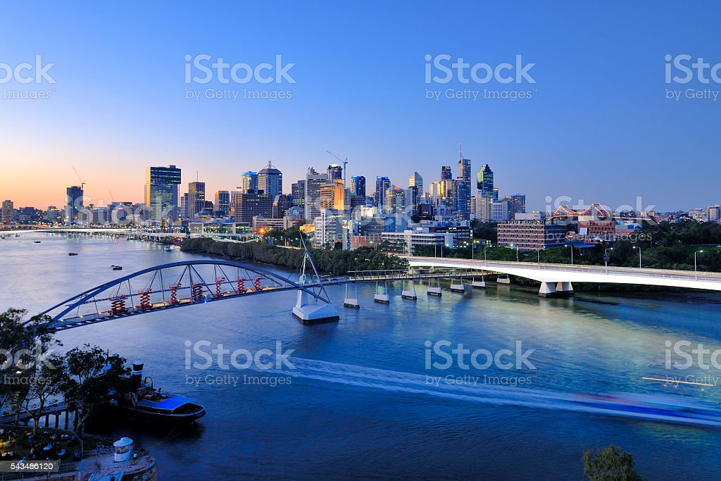 Australia Landscape : Brisbane City Skyline stock photo